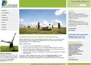Exempel på webbplats åt IVL.