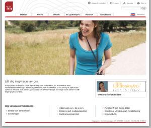 Iris webbplats