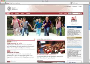 Webbplatsen för BUPH.